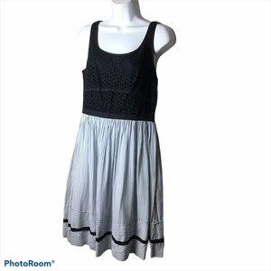 Ann TaylorLoft Eyelet Lace Bodice Dress…